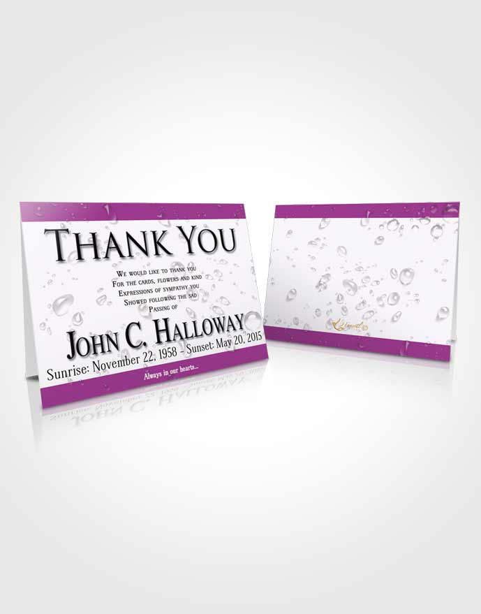 Funeral Thank You Card Template Lavender Enchantment