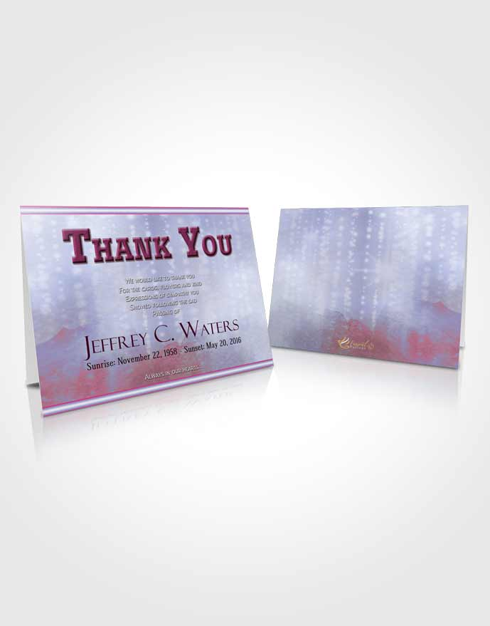 Funeral Thank You Card Template Lavender Sunrise Timeless Love