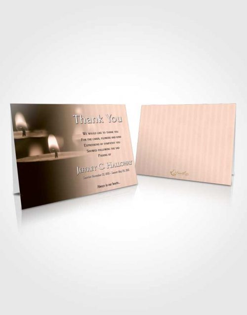 Funeral Thank You Card Template Vintage Candle Light
