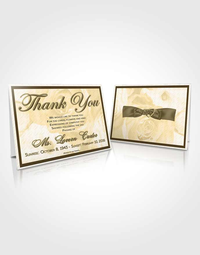 Funeral Thank You Card Template Autumn Petals in the Wind