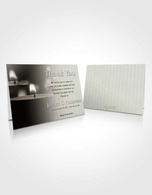 Funeral Thank You Card Template Rustic Candle Light