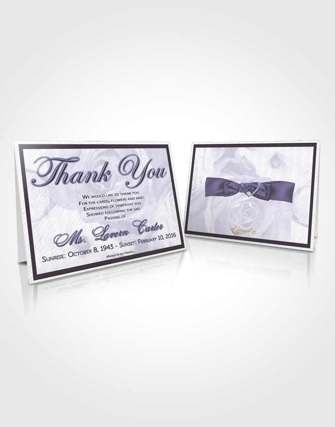 Funeral Thank You Card Template Soft Petals in the Wind