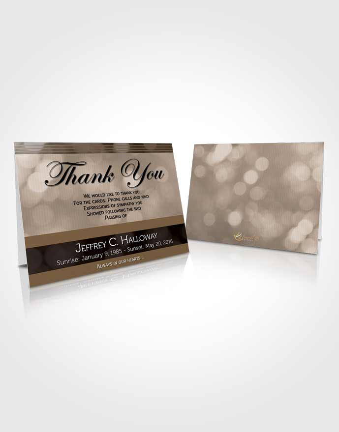 Funeral Thank You Card Template Majestic Vintage Love Light