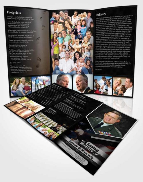 Obituary Template Trifold Brochure 1st Veterans Day Freedom