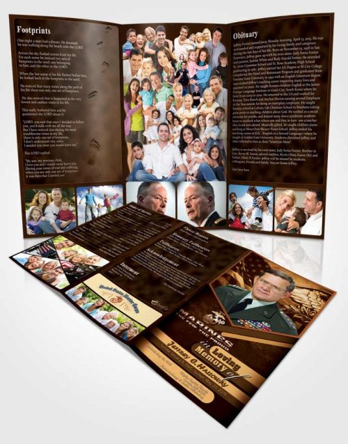 Obituary Template Trifold Brochure 2nd Marines The Few The Proud Love