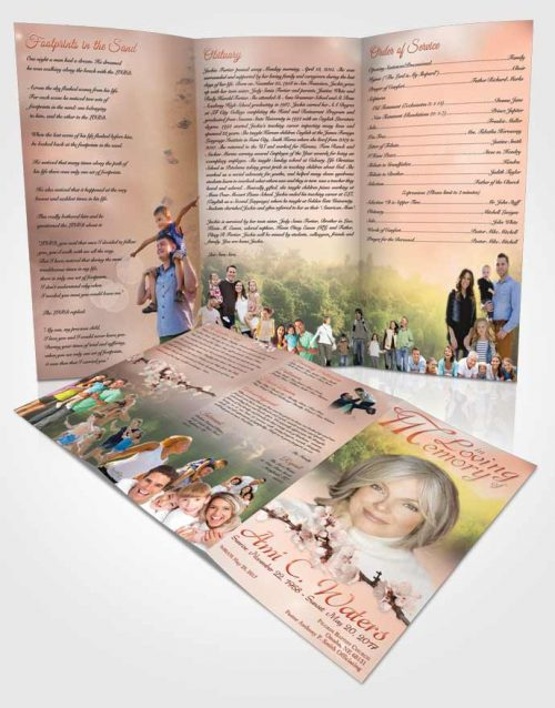 Obituary Template Trifold Brochure Forest River Ruby Desire