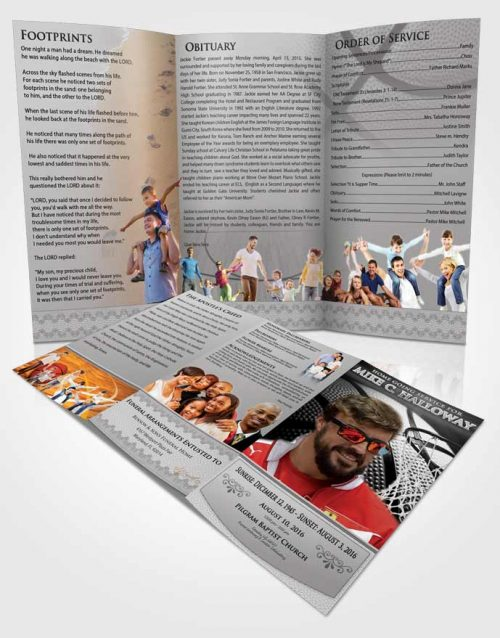 Obituary Template Trifold Brochure Freedom Basketball Honor