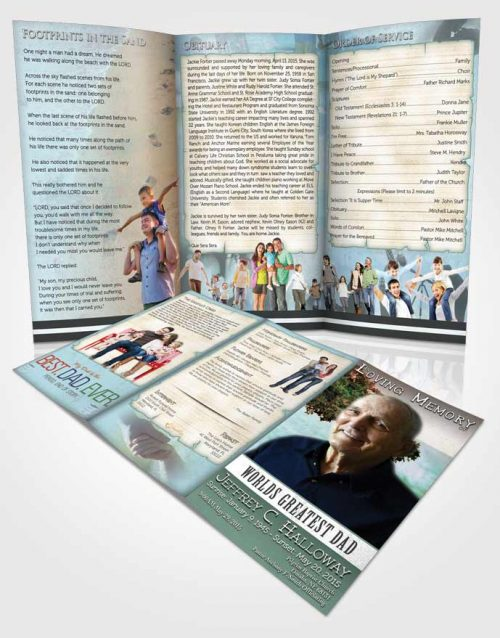 Obituary Template Trifold Brochure Greatest Dad Early Fall