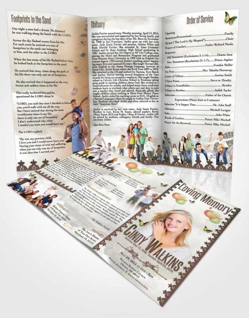 Obituary Template Trifold Brochure Natural Elegance A Walk in the Park