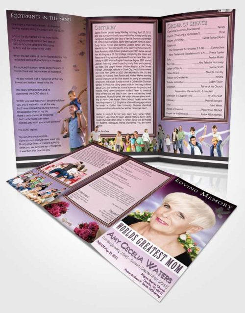 Obituary Template Trifold Brochure Worlds Greatest Loving Mom