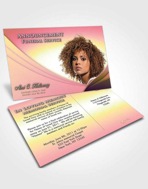 Funeral Announcement Card Template Loving Mix Magnificence