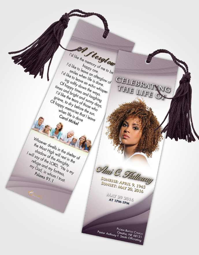 Funeral Bookmark Template Afternoon Magnificence