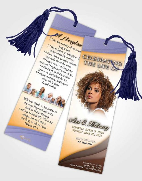 Funeral Bookmark Template Devoted Magnificence