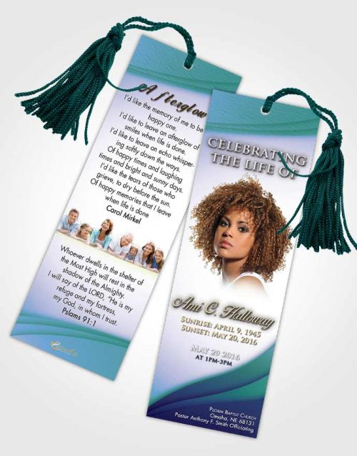 Funeral Bookmark Template Oceans Magnificence
