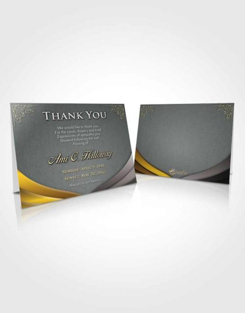 Funeral Thank You Card Template Early Morning Magnificence
