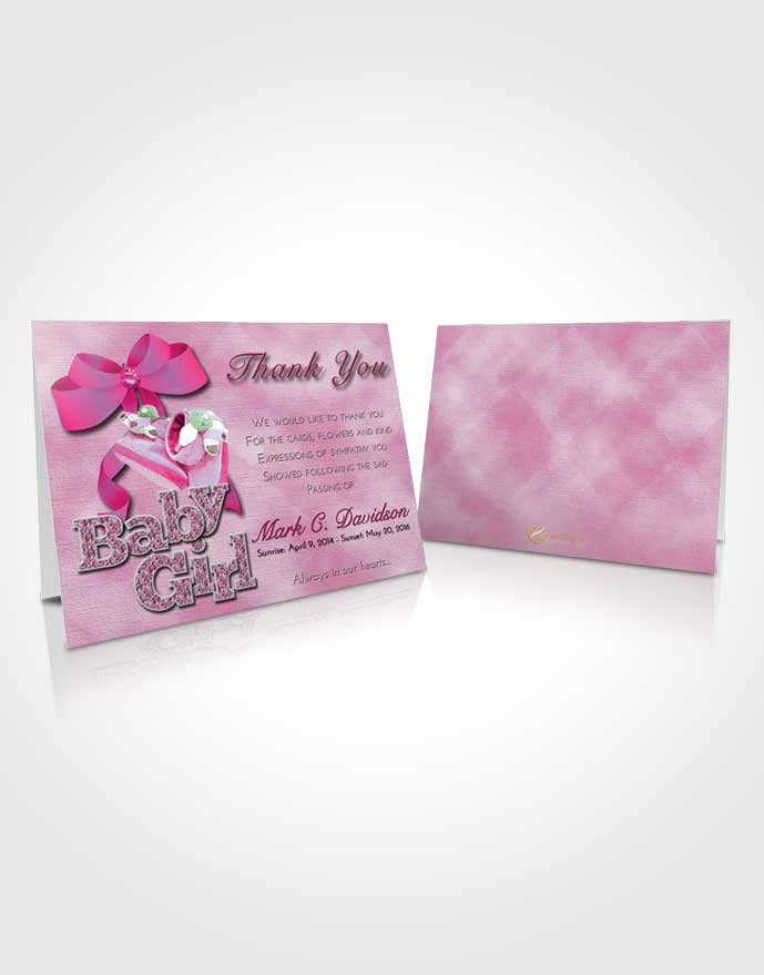 Funeral Thank You Card Template Hot Pink Majesty Baby Girl