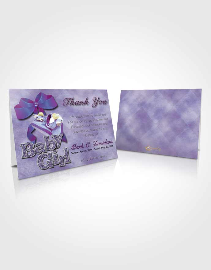 Funeral Thank You Card Template Lavender Beauty Baby Girl