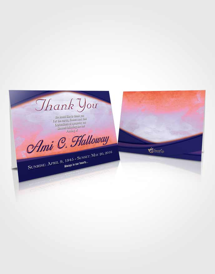 Funeral Thank You Card Template Peaceful Wisdom