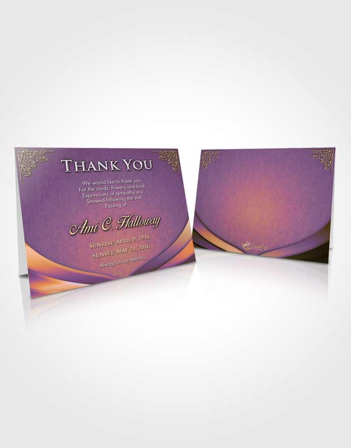 Funeral Thank You Card Template Smiling Magnificence