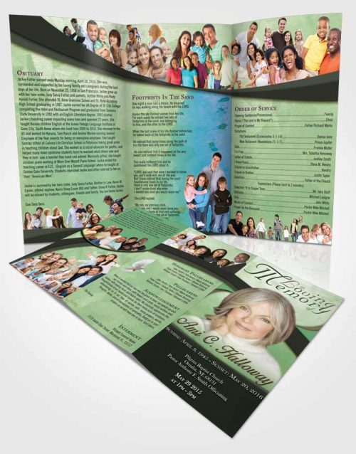 Obituary Template Trifold Brochure Devoted Wisdom