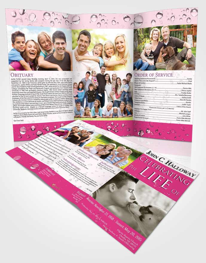 Obituary Template Trifold Brochure Brilliant Enchantment