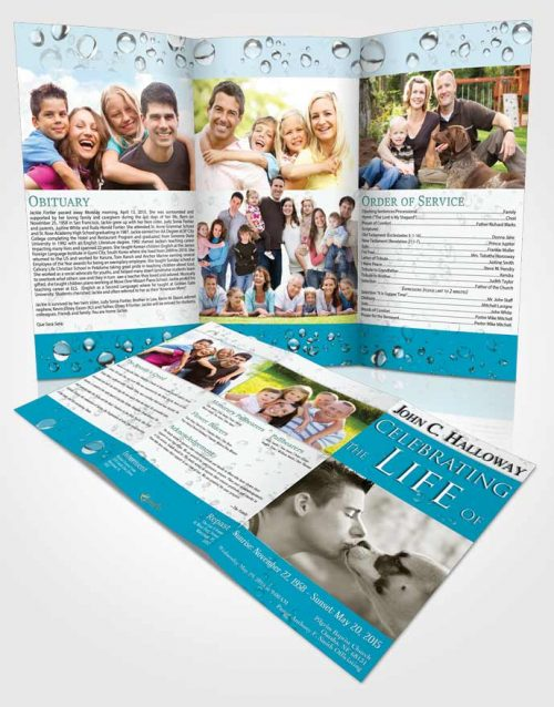 Obituary Template Trifold Brochure Sparkling Enchantment