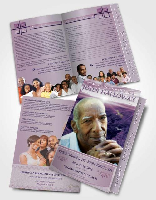 2 Page Graduated Step Fold Funeral Program Template Brochure Special Moments Canyon Escape