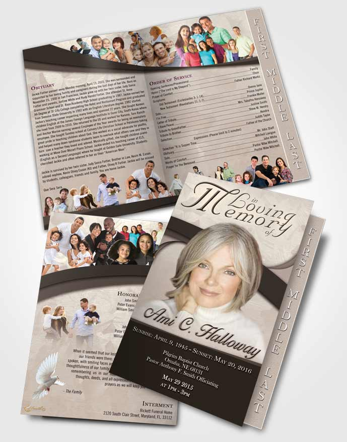 Funeral Program Templates - Editable Word Templates • FuneralParlour