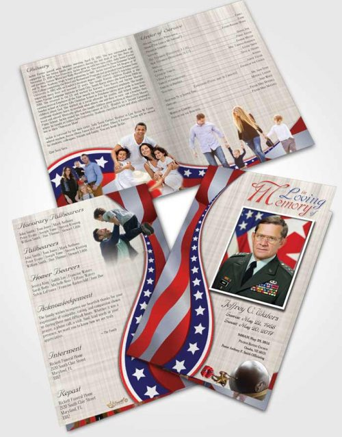 Bifold Order Of Service Obituary Template Brochure Sweet Military Honors