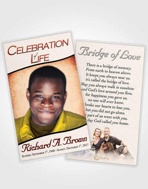 Funeral Prayer Card Template Lovely Bliss