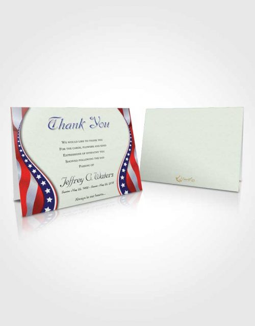 Funeral Thank You Card Template Heavenly Military Honors