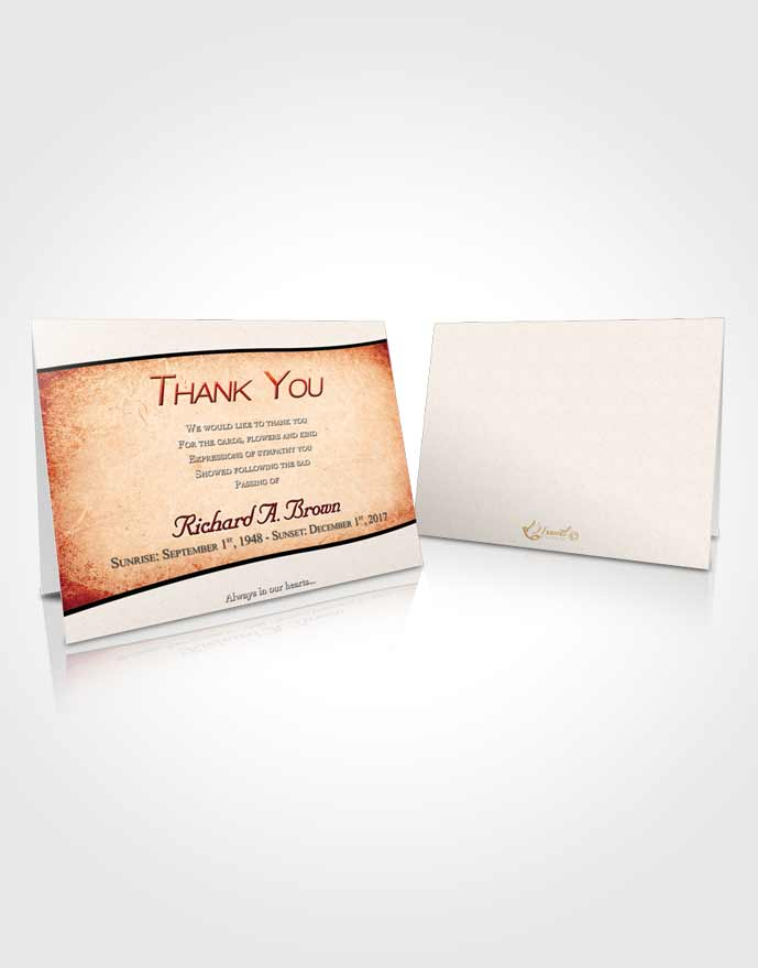 Funeral Thank You Card Template Lovely Bliss