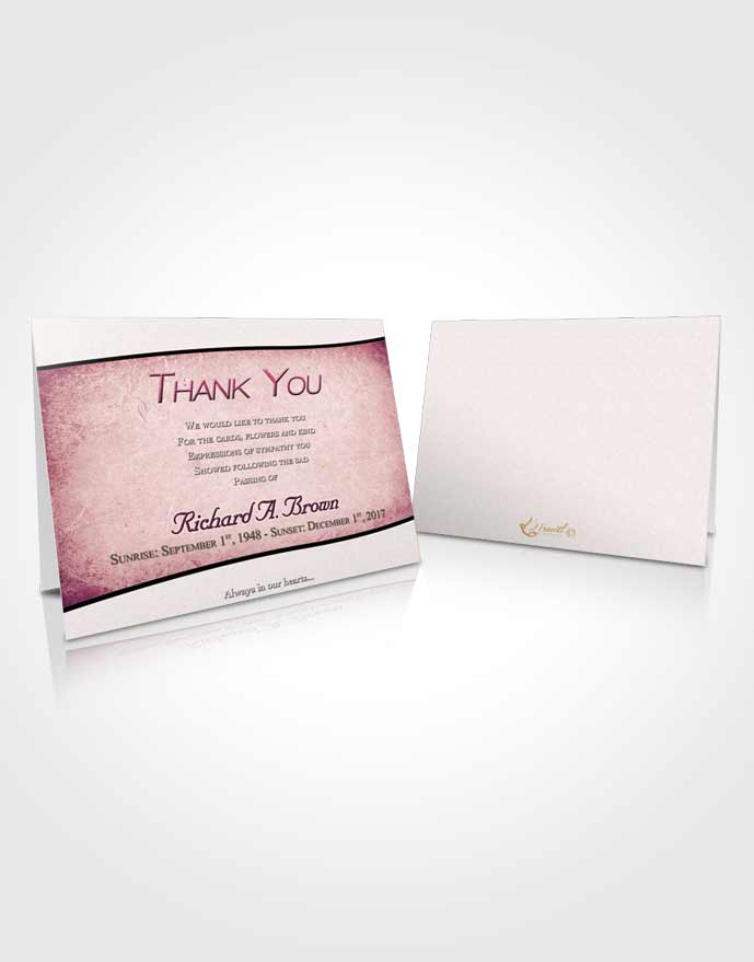Funeral Thank You Card Template Misty Bliss