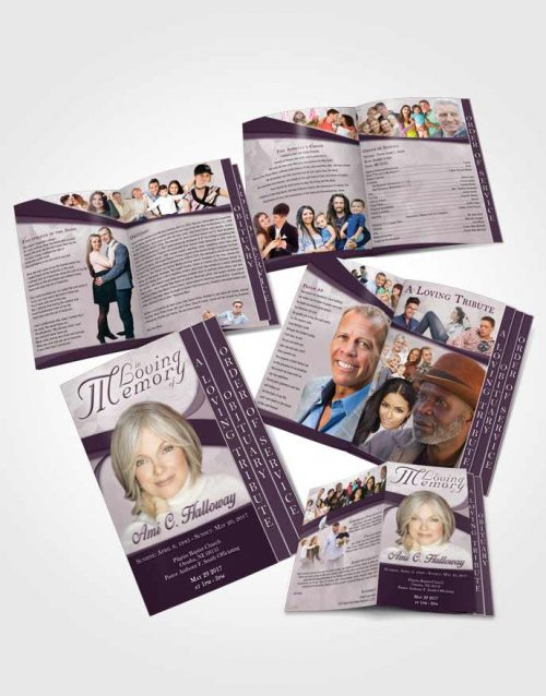 4 Page Grad Obituary Template Brochure Afternoon Wisdom