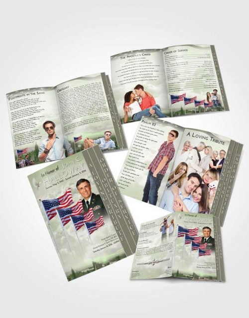 4 Page Grad Obituary Template Brochure Americas Finest Love