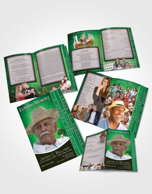 4 Page Grad Obituary Template Brochure Emerald Doctor