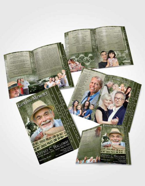 4 Page Grad Obituary Template Brochure Emerald Police Enforcement