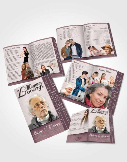 4 Page Grad Obituary Template Brochure Evening Destiny