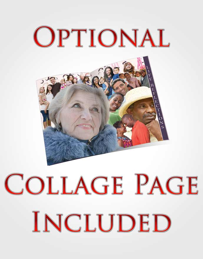 4 Page Grad Obituary Template Brochure Evening Enchantment Collage