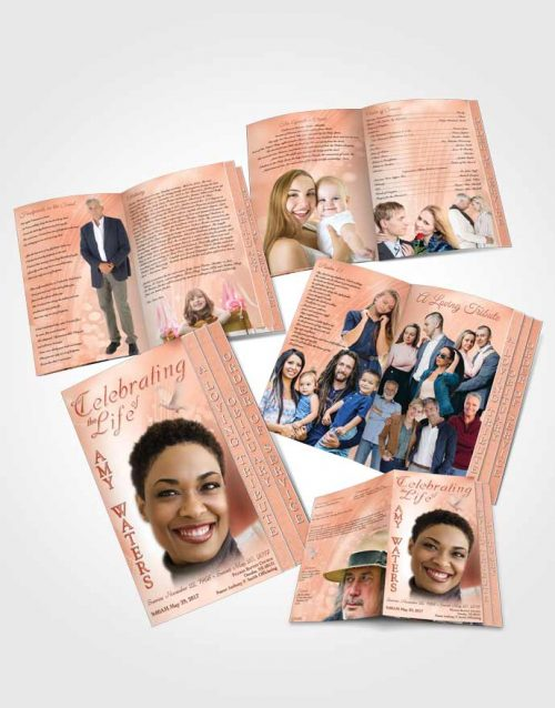 4 Page Grad Obituary Template Brochure Free Spirit Ruby Desire