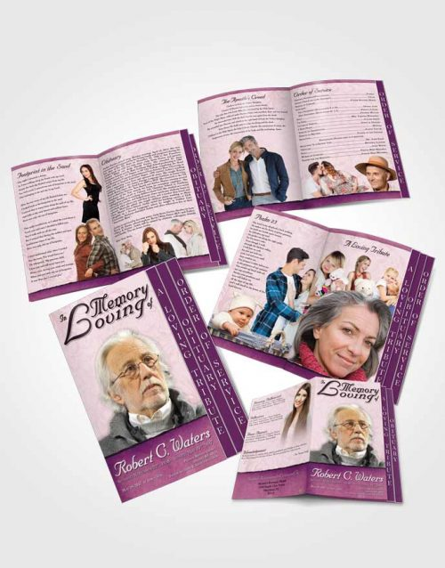 4 Page Grad Obituary Template Brochure Honest Destiny