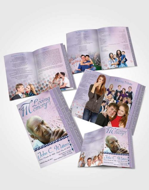 4 Page Grad Obituary Template Brochure Lets Play Early Morning Cards