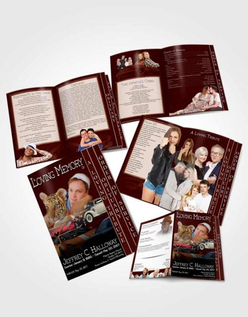4 Page Grad Obituary Template Brochure Peach Mountain Car Enthusiast