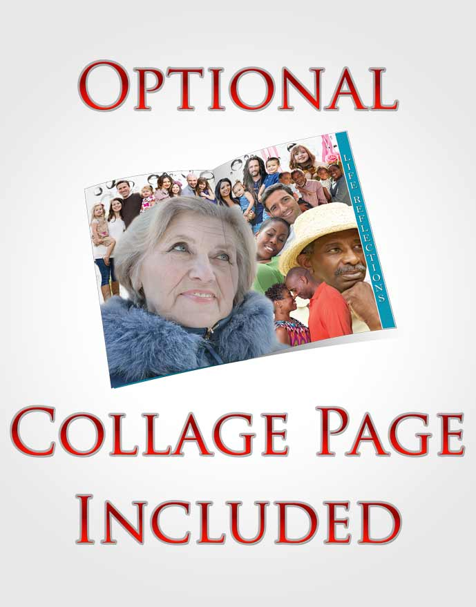 4 Page Grad Obituary Template Brochure Sparkling Enchantment Collage