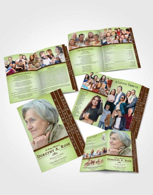 4 Page Grad Obituary Template Brochure Composed Tolerance