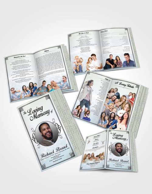 4 Page Grad Obituary Template Brochure Mystical Class Light