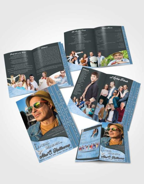 4 Page Grad Obituary Template Brochure Passionate Peace of Mind