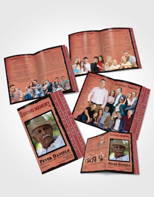 4 Page Grad Obituary Template Brochure Sapphire Outback