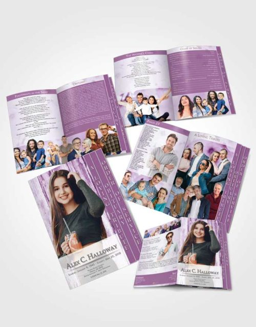 4 Page Grad Obituary Template Brochure Soothing Endurance