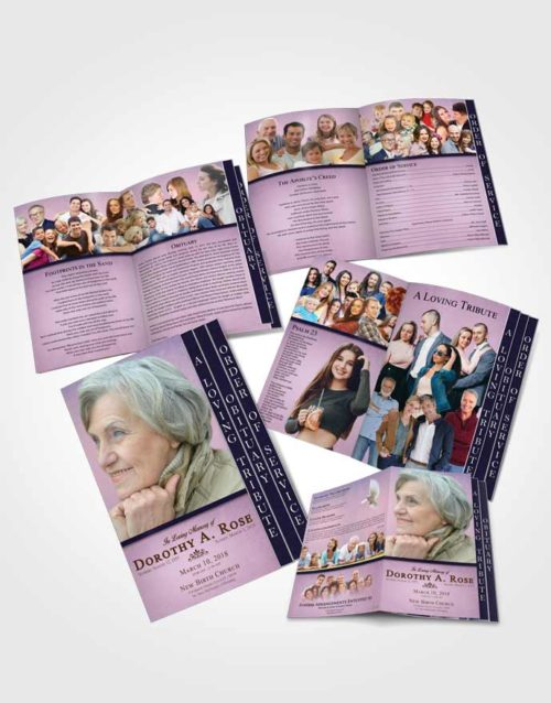 4 Page Grad Obituary Template Brochure Tranquil Tolerance